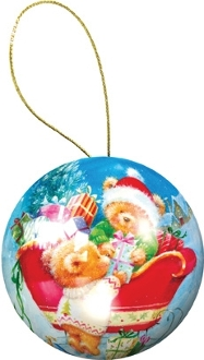 Holiday Ornament Puzzle: Teddy Bears