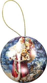 Holiday Ornament Puzzle: Santa Claus