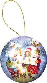 Holiday Ornament Puzzle: Little Carolers
